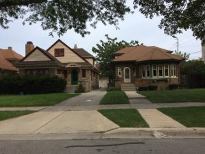 Photograph featuring typical bungalows of the Milwaukee area.