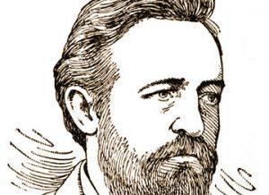 Drawing of Paul Grottkau, circa 1886, by Frederic Heath.