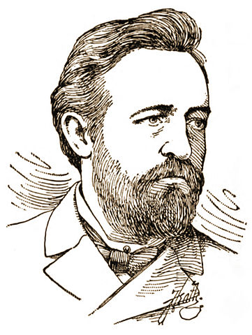 Drawing of Paul Grottkau, circa 1886, by Frederic Heath.