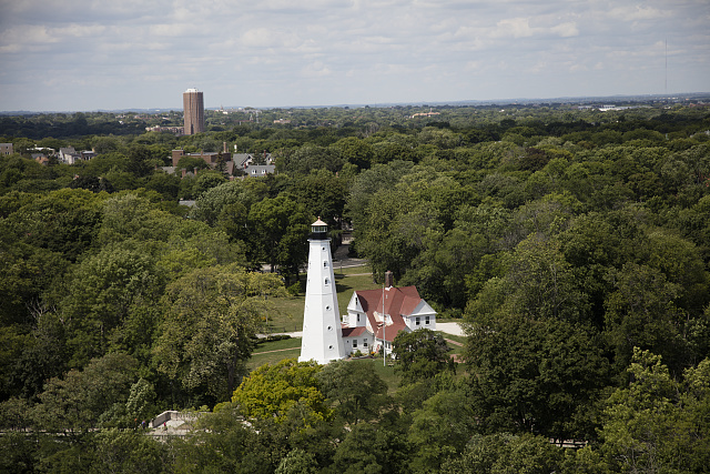 <table class=&quot;lightbox&quot;><tr><td colspan=2 class=&quot;lightbox-title&quot;>North Point Lighthouse</td></tr><tr><td colspan=2 class=&quot;lightbox-caption&quot;>An aerial view of the North Point Lighthouse shows its place in Lake Park, with hints of the contemporary cityscape in the background. </td></tr><tr><td colspan=2 class=&quot;lightbox-spacer&quot;></td></tr><tr class=&quot;lightbox-detail&quot;><td class=&quot;cell-title&quot;>Source: </td><td class=&quot;cell-value&quot;>From the Library of Congress Carol M. Highsmith Archive. <br /><a href=&quot;https://www.loc.gov/item/2016630859/&quot; target=&quot;_blank&quot;>Library of Congress</a></td></tr><tr class=&quot;filler-row&quot;><td colspan=2>&nbsp;</td></tr></table>