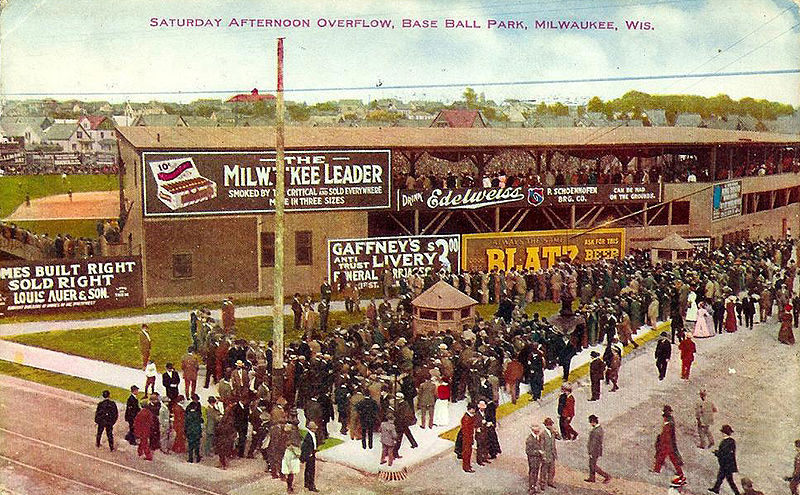 <table class=&quot;lightbox&quot;><tr><td colspan=2 class=&quot;lightbox-title&quot;>Borchert Field</td></tr><tr><td colspan=2 class=&quot;lightbox-caption&quot;>Postcard featuring crowds gathered outside Borchert Field, postmarked 1911.</td></tr><tr><td colspan=2 class=&quot;lightbox-spacer&quot;></td></tr><tr class=&quot;lightbox-detail&quot;><td class=&quot;cell-title&quot;>Source: </td><td class=&quot;cell-value&quot;>From the Wikimedia Commons<br /><a href=&quot;https://commons.wikimedia.org/wiki/File:BorchertField_1911.jpg&quot; target=&quot;_blank&quot;>Wikimedia Commons</a></td></tr><tr class=&quot;filler-row&quot;><td colspan=2>&nbsp;</td></tr></table>