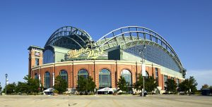 Miller Park, home of the Milwaukee Brewers National League baseball team.