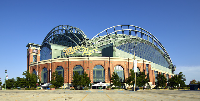 Miller Park, home of the Milwaukee Brewers National League baseball team.