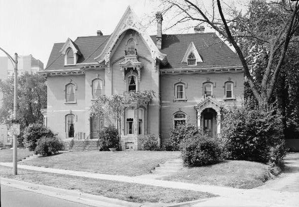 Photograph of the home of Jason Downer, prominent lawyer and one of the founders of the Milwaukee Sentinel, taken in the 1930s. Located on North Prospect Avenue, the house is on the National Register of Historic Places.