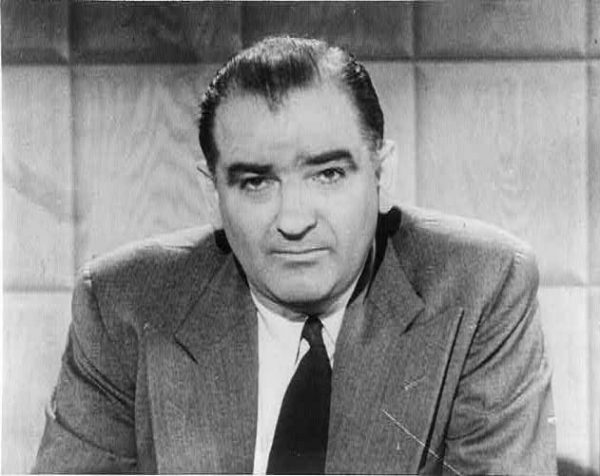 Photograph of Wisconsin Senator Joseph McCarthy, 1908-1957, taken by United Press in 1954.