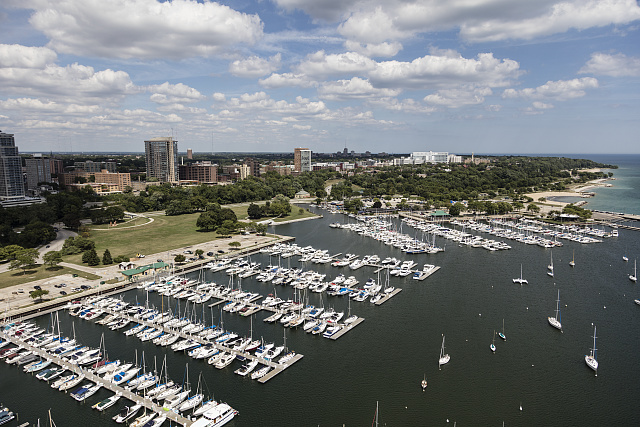 <table class=&quot;lightbox&quot;><tr><td colspan=2 class=&quot;lightbox-title&quot;>Boats in the Marina</td></tr><tr><td colspan=2 class=&quot;lightbox-caption&quot;>Photograph featuring an aerial view of boats in the marina on Lake Michigan with Milwaukee in the background. </td></tr><tr><td colspan=2 class=&quot;lightbox-spacer&quot;></td></tr><tr class=&quot;lightbox-detail&quot;><td class=&quot;cell-title&quot;>Source: </td><td class=&quot;cell-value&quot;>From the Library of Congress Carol M. Highsmith Archive.<br /><a href=&quot;https://www.loc.gov/item/2016630850/&quot; target=&quot;_blank&quot;>Library of Congress</a></td></tr><tr class=&quot;filler-row&quot;><td colspan=2>&nbsp;</td></tr></table>