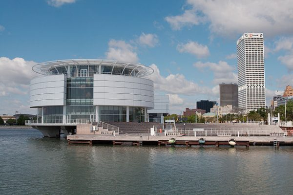 Photograph of Discovery World on Milwaukee's lakefront, a popular site for hands-on scientific and technological learning for people all ages.