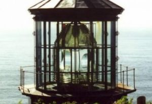 This Fresnel Lens from a lighthouse in Oregon shows the faceting and bending of glass that projects light for travelers on the water.