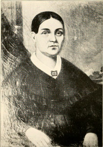 Portrait of Josette Vieau Juneau at age 51, from a painting by Geo. P. A. Healy.