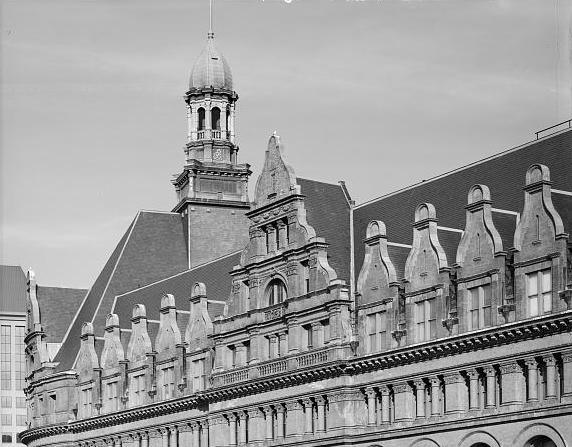 <table class=&quot;lightbox&quot;><tr><td colspan=2 class=&quot;lightbox-title&quot;>City Hall Roof</td></tr><tr><td colspan=2 class=&quot;lightbox-caption&quot;>An unusual view of the ornamentation on the roof of City Hall.</td></tr><tr><td colspan=2 class=&quot;lightbox-spacer&quot;></td></tr><tr class=&quot;lightbox-detail&quot;><td class=&quot;cell-title&quot;>Source: </td><td class=&quot;cell-value&quot;>From the Library of Congress Historic American Building Survey Collection.<br /><a href=&quot;https://www.loc.gov/resource/hhh.wi0021.photos/?sp=26&quot; target=&quot;_blank&quot;>Library of Congress </a></td></tr><tr class=&quot;filler-row&quot;><td colspan=2>&nbsp;</td></tr></table>