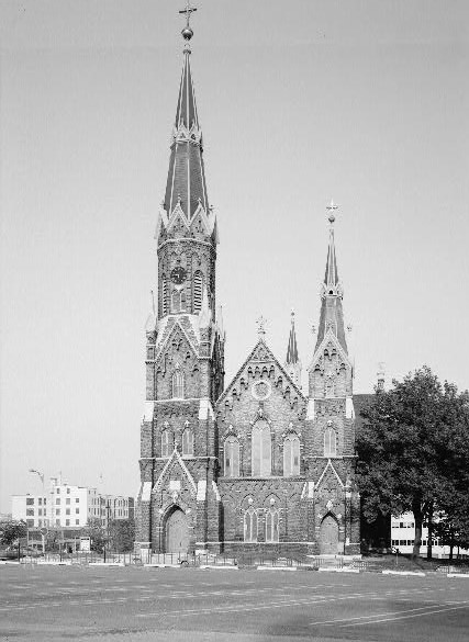 <table class=&quot;lightbox&quot;><tr><td colspan=2 class=&quot;lightbox-title&quot;>Trinity Evangelical Lutheran Church</td></tr><tr><td colspan=2 class=&quot;lightbox-caption&quot;>Ground-level photograph of the Trinity Evangelical Lutheran Church taken during the 1930s.</td></tr><tr><td colspan=2 class=&quot;lightbox-spacer&quot;></td></tr><tr class=&quot;lightbox-detail&quot;><td class=&quot;cell-title&quot;>Source: </td><td class=&quot;cell-value&quot;>From the Library of Congress Historic American Buildings Survey.<br /><a href=&quot;https://www.loc.gov/resource/hhh.wi0048.photos/?sp=1&quot; target=&quot;_blank&quot;>Library of Congress</a></td></tr><tr class=&quot;filler-row&quot;><td colspan=2>&nbsp;</td></tr></table>