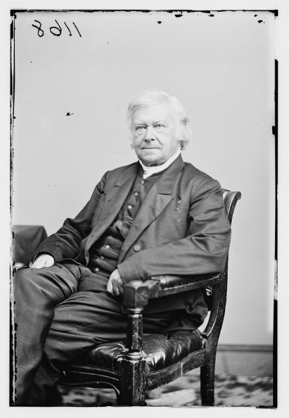 Portrait of Bishop Kemper, the first Episcopal missionary bishop in Wisconsin, taken in 1855. He was a prominent figure in establishing the Anglican religion in the midwest.