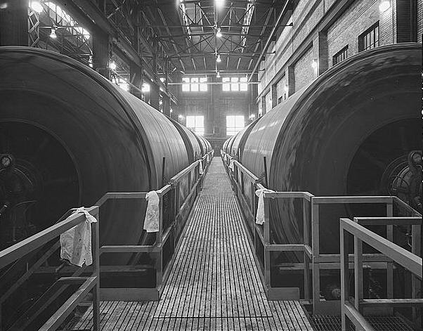 <table class=&quot;lightbox&quot;><tr><td colspan=2 class=&quot;lightbox-title&quot;>Filter Cake Cylinders</td></tr><tr><td colspan=2 class=&quot;lightbox-caption&quot;>This 1981 photograph shows the filter cake cylinders at the Jones Island Treatment Plant.</td></tr><tr><td colspan=2 class=&quot;lightbox-spacer&quot;></td></tr><tr class=&quot;lightbox-detail&quot;><td class=&quot;cell-title&quot;>Source: </td><td class=&quot;cell-value&quot;>From the Library of Congress Historic American Engineering Record Collection. <br /><a href=&quot;https://www.loc.gov/resource/hhh.wi0154.photos/?sp=29&quot; target=&quot;_blank&quot;>Library of Congress</a></td></tr><tr class=&quot;filler-row&quot;><td colspan=2>&nbsp;</td></tr></table>