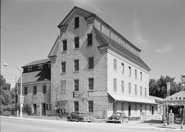 This photograph shows the flour mill built in 1855 in the heart of Cedarburg.