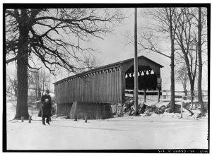 This covered bridge is a Cedarburg landmark. Photograph taken in 1934.