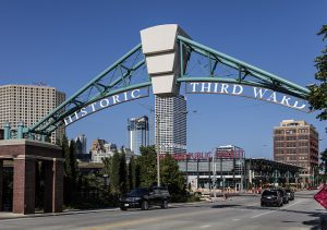 As part of its revitalization, the Third Ward was renamed the Historic Third Ward and this welcoming arch leading to the new Public Market was installed.