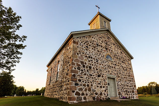 St. Peter's Church, an example of fieldstone construction, was built in 1861.