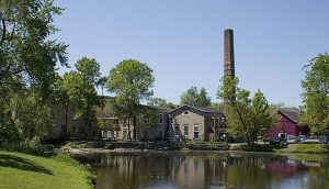 This 2009 photograph of the pond behind Hilgen-Wittenberg Woolen Mill complex underscores the importance of water to Cedarburg's development.