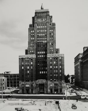 This 1965 photograph of the Wisconsin Gas Building shows the flame atop the structure.