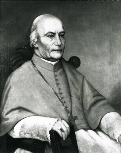 Portrait of John Martin Henni, circa 1880. Henni was a Swiss immigrant who became a leading figure in Milwaukee's Catholic community.
