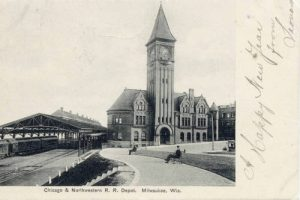 A 1906 view of the Chicago and Northwestern Railroad Depot that kicked off the historic preservation movement in Milwaukee.