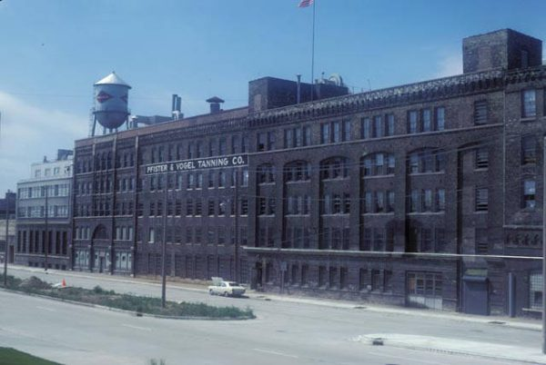 Photograph of the Pfister & Vogel Tanning Company on Water Street taken in 1978.