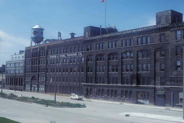 <table class=&quot;lightbox&quot;><tr><td colspan=2 class=&quot;lightbox-title&quot;>Pfister &amp; Vogel Tanning Company</td></tr><tr><td colspan=2 class=&quot;lightbox-caption&quot;>Photograph of the Pfister &amp; Vogel Tanning Company on Water Street taken in 1978.</td></tr><tr><td colspan=2 class=&quot;lightbox-spacer&quot;></td></tr><tr class=&quot;lightbox-detail&quot;><td class=&quot;cell-title&quot;>Source: </td><td class=&quot;cell-value&quot;>From the Harold Mayer Collection, American Geographical Society Library, University of Wisconsin-Milwaukee Libraries.<br /><a href=&quot;http://collections.lib.uwm.edu/digital/collection/mkenh/id/197/rec/1&quot; target=&quot;_blank&quot;>University of Wisconsin-Milwaukee Libraries</a></td></tr><tr class=&quot;filler-row&quot;><td colspan=2>&nbsp;</td></tr></table>
