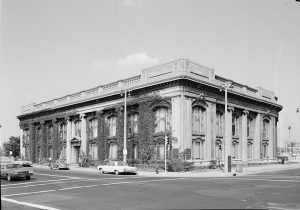 Exterior photograph of the Second Ward Savings Bank, now home to the Milwaukee County Historical Society.