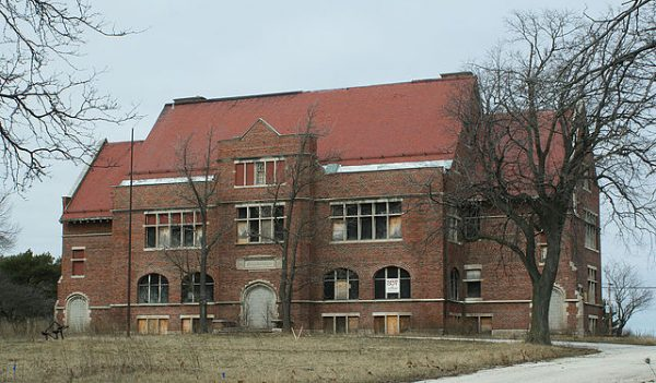 The Eschweiler Buildings on the Milwaukee County Grounds, such as this abandoned Milwaukee County School of Agriculture and Domestic Economy building, have been the focus of historic preservation efforts.
