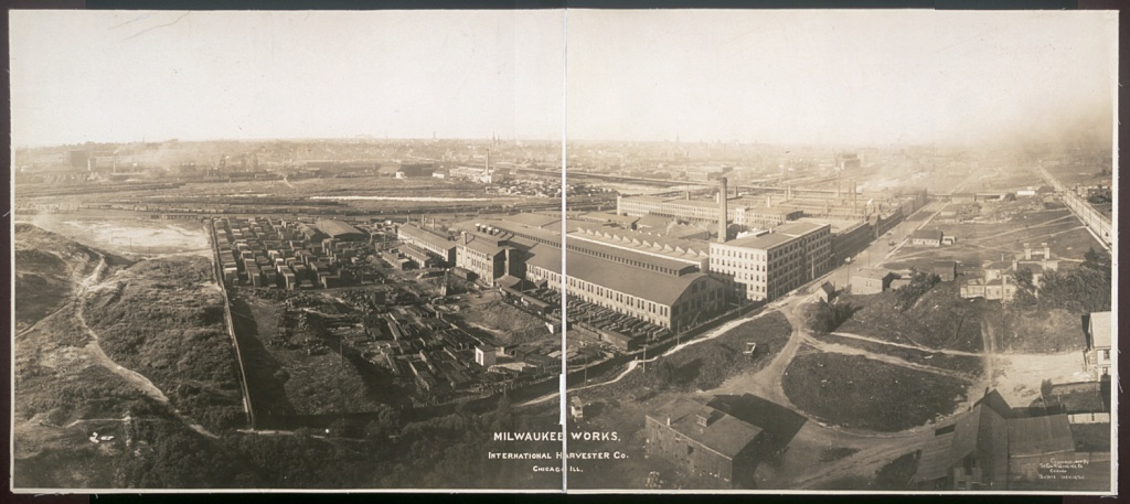<table class=&quot;lightbox&quot;><tr><td colspan=2 class=&quot;lightbox-title&quot;>International Harvester Company</td></tr><tr><td colspan=2 class=&quot;lightbox-caption&quot;>Panoramic photograph of the International Harvester plant in Milwaukee, circa 1907. </td></tr><tr><td colspan=2 class=&quot;lightbox-spacer&quot;></td></tr><tr class=&quot;lightbox-detail&quot;><td class=&quot;cell-title&quot;>Source: </td><td class=&quot;cell-value&quot;>From the Library of Congress Panoramic Photographs Collection.<br /><a href=&quot;https://www.loc.gov/resource/pan.6a34696/&quot; target=&quot;_blank&quot;>Library of Congress</a></td></tr><tr class=&quot;filler-row&quot;><td colspan=2>&nbsp;</td></tr></table>