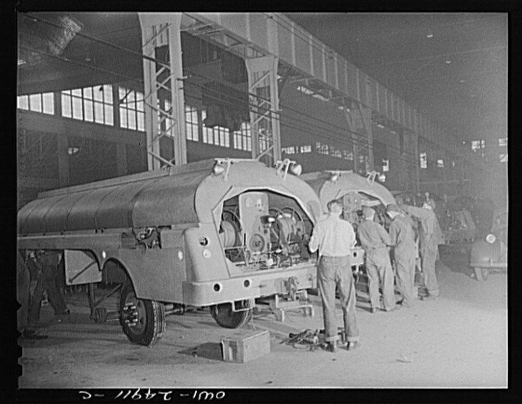 <table class=&quot;lightbox&quot;><tr><td colspan=2 class=&quot;lightbox-title&quot;>Heil Company Workers</td></tr><tr><td colspan=2 class=&quot;lightbox-caption&quot;>1943 photograph of Heil Company war production employees making gasoline tanker trucks.</td></tr><tr><td colspan=2 class=&quot;lightbox-spacer&quot;></td></tr><tr class=&quot;lightbox-detail&quot;><td class=&quot;cell-title&quot;>Source: </td><td class=&quot;cell-value&quot;>From the Library of Congress Farm Security Administration - Office of War Information Photograph Collection.<br /><a href=&quot;https://www.loc.gov/item/2017852330/&quot; target=&quot;_blank&quot;>Library of Congress</a></td></tr><tr class=&quot;filler-row&quot;><td colspan=2>&nbsp;</td></tr></table>