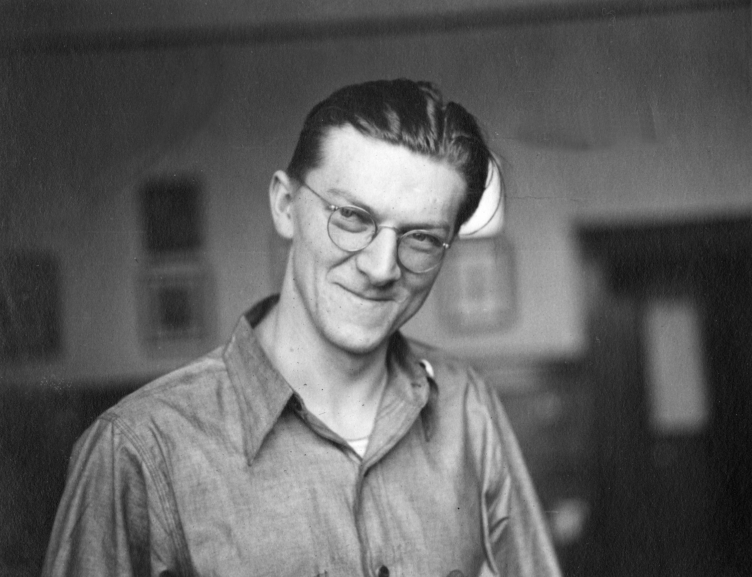 Portrait of Harold Christoffel taken in 1937, the year he began his tenure as president of the UAW Local 248 union in Milwaukee.