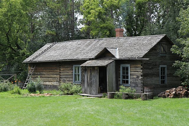 Old World Wisconsin reconstructs life in 19th century Wisconsin in a buildings that are clustered by ethnicity. This Finnish log house was moved from its original location in Oulu, Bayfield County, Wisconsin.