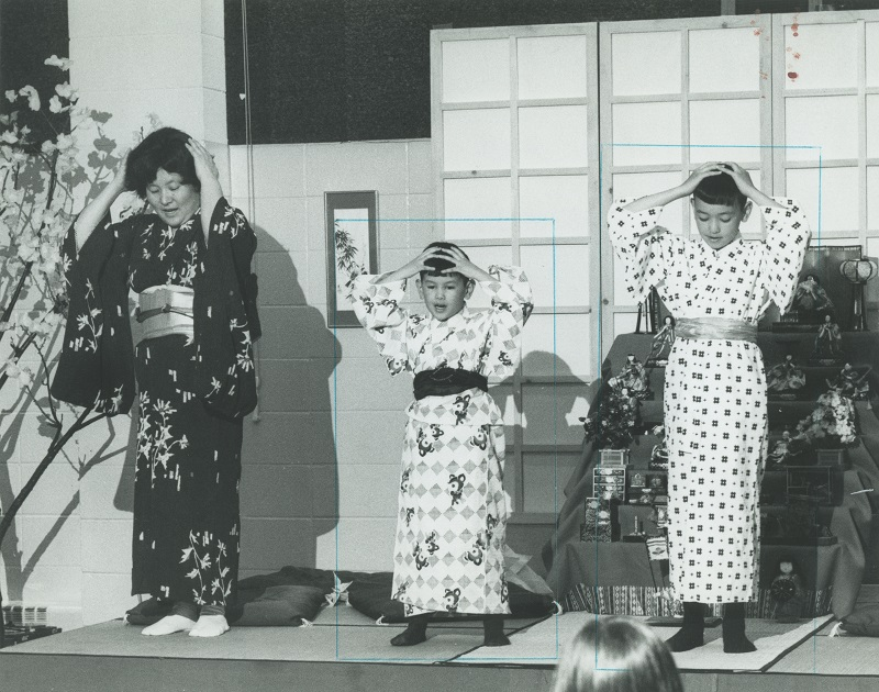 <table class=&quot;lightbox&quot;><tr><td colspan=2 class=&quot;lightbox-title&quot;>1978 Ethnic Spring Festival</td></tr><tr><td colspan=2 class=&quot;lightbox-caption&quot;>Two young boys and their mother perform a traditional Japanese song for school children gathered at the International Institute for Ethnic Spring Festival. The Japanese American Civic League was a member organization of the International Institute. </td></tr><tr><td colspan=2 class=&quot;lightbox-spacer&quot;></td></tr><tr class=&quot;lightbox-detail&quot;><td class=&quot;cell-title&quot;>Source: </td><td class=&quot;cell-value&quot;>From the Historic Photo Archive at the Milwaukee Public Library. Reprinted with permission. <br /><a href=&quot;http://content.mpl.org/cdm/singleitem/collection/HstoricPho/id/5650/rec/7&quot; target=&quot;_blank&quot;>Milwaukee Public Library</a></td></tr><tr class=&quot;filler-row&quot;><td colspan=2>&nbsp;</td></tr></table>