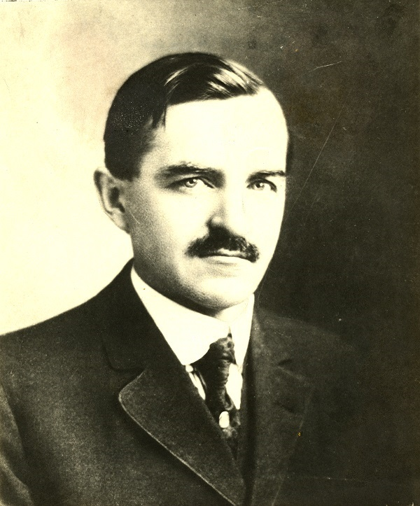 Portrait of Daniel Webster Hoan, who served as Milwaukee's mayor for over 20 years.