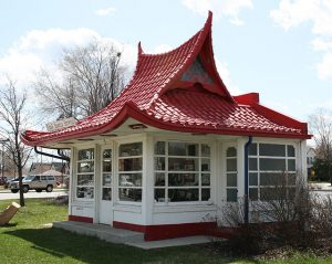 This West Allis Wadhams Gas Station designed by Alexander Eschweiler is on the National Register of Historic Places.