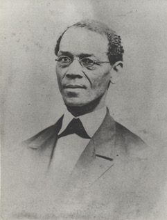 Photograph of a young Ezekiel Gillespie, prominent activist and founder of the AME church in Milwaukee.