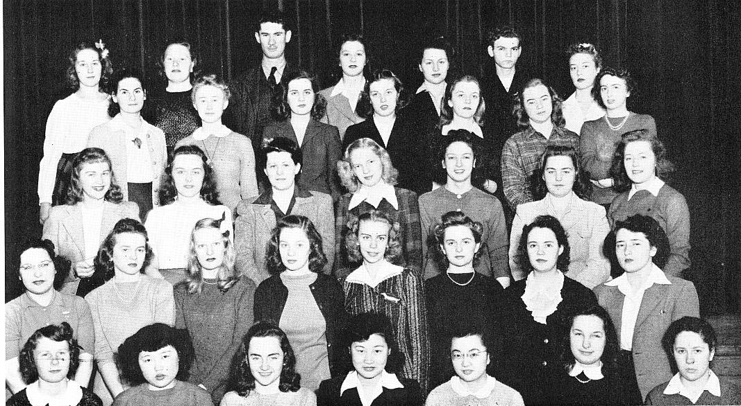 <table class=&quot;lightbox&quot;><tr><td colspan=2 class=&quot;lightbox-title&quot;>Ruth Asawa</td></tr><tr><td colspan=2 class=&quot;lightbox-caption&quot;>1944 UW-Milwaukee yearbook photograph featuring Japanese-American artist and then-student Ruth Asawa. Asawa is seated in the front row, fourth from the left. </td></tr><tr><td colspan=2 class=&quot;lightbox-spacer&quot;></td></tr><tr class=&quot;lightbox-detail&quot;><td class=&quot;cell-title&quot;>Source: </td><td class=&quot;cell-value&quot;>From the UWM Yearbooks Collection. Archives, University of Wisconsin-Milwaukee Libraries. <br /><a href=&quot;http://collections.lib.uwm.edu/digital/collection/uwmyb/id/4047/rec/2&quot; target=&quot;_blank&quot;>University of Wisconsin-Milwaukee Libraries</a></td></tr><tr class=&quot;filler-row&quot;><td colspan=2>&nbsp;</td></tr></table>
