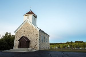 St. Augustine Catholic Church, built from fieldstone in 1856, is on the National Register of Historic Places.
