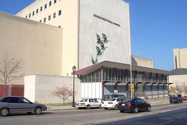 Exterior view of the current Milwaukee Public Museum, which opened downtown in 1963.