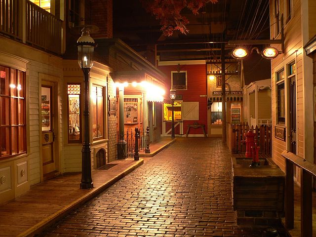 <table class=&quot;lightbox&quot;><tr><td colspan=2 class=&quot;lightbox-title&quot;>Streets of Old Milwaukee Exhibit</td></tr><tr><td colspan=2 class=&quot;lightbox-caption&quot;>Photograph of part of the popular museum exhibit Streets of Old Milwaukee. It opened in 1965 and was one of the world's first walk-through dioramas. </td></tr><tr><td colspan=2 class=&quot;lightbox-spacer&quot;></td></tr><tr class=&quot;lightbox-detail&quot;><td class=&quot;cell-title&quot;>Source: </td><td class=&quot;cell-value&quot;>From the Wikimedia Commons. Photograph by Wikimedia username Sulfur. CC BY-SA 3.0.<br /><a href=&quot;https://commons.wikimedia.org/wiki/File:Streets_of_Old_Milwaukee.jpg&quot; target=&quot;_blank&quot;>Wikimedia Commons</a></td></tr><tr class=&quot;filler-row&quot;><td colspan=2>&nbsp;</td></tr></table>