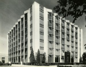 1965 photograph of the A.O. Smith Research and Development facility. Built in 1930, it was one of the nation's first dedicated research and development departments.