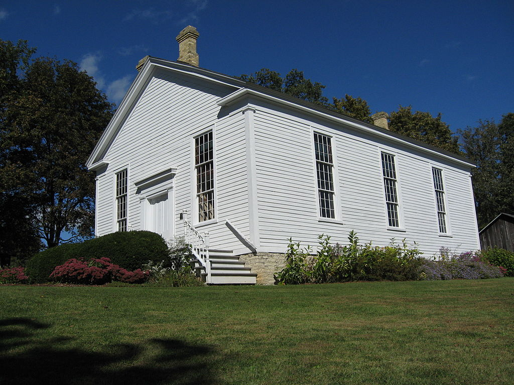 The Reformed Presbyterian Church of Vernon, in use for worship from 1854 until the 1930s and restored in the 1970s, is an example of Greek Revival architecture listed on the National Register of Historic Places.