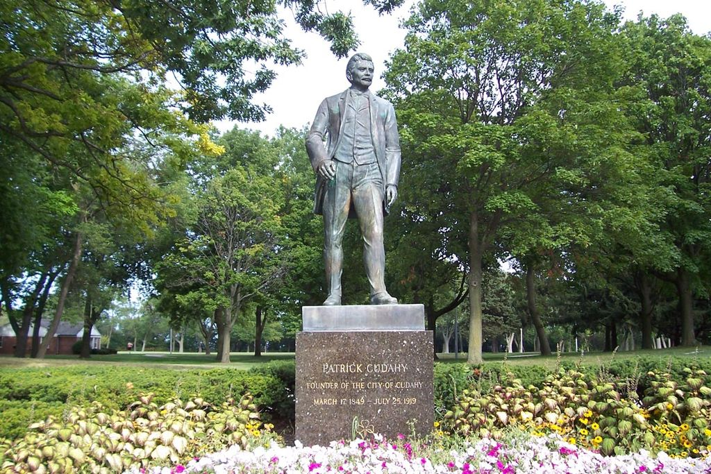 <table class=&quot;lightbox&quot;><tr><td colspan=2 class=&quot;lightbox-title&quot;>Statue of Patrick Cudahy</td></tr><tr><td colspan=2 class=&quot;lightbox-caption&quot;>Patrick Cudahy, depicted here in a 1964 sculpture, shaped the city throughout the early 20th century.</td></tr><tr><td colspan=2 class=&quot;lightbox-spacer&quot;></td></tr><tr class=&quot;lightbox-detail&quot;><td class=&quot;cell-title&quot;>Source: </td><td class=&quot;cell-value&quot;>From the Wikimedia Commons. Photograph by Wikimedia username Sulfur. CC BY-SA 3.0.</td></tr><tr class=&quot;filler-row&quot;><td colspan=2>&nbsp;</td></tr></table>