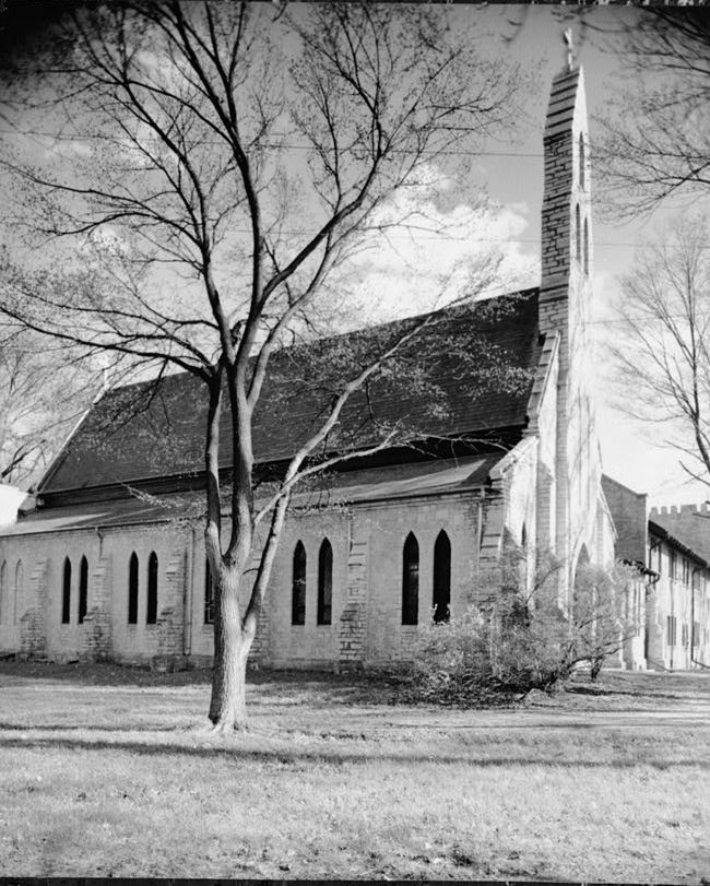 <table class=&quot;lightbox&quot;><tr><td colspan=2 class=&quot;lightbox-title&quot;>Chapel of St. Mary the Virgin</td></tr><tr><td colspan=2 class=&quot;lightbox-caption&quot;>A side view of the Chapel of St. Mary the Virgin, at Nashotah House Theological Seminary, in a 1960 photograph taken by Wisconsin architect Richard W.E. Perrin.</td></tr><tr><td colspan=2 class=&quot;lightbox-spacer&quot;></td></tr><tr class=&quot;lightbox-detail&quot;><td class=&quot;cell-title&quot;>Source: </td><td class=&quot;cell-value&quot;>From the Library of Congress Historic American Buildings Survey Collection. <br /><a href=&quot;http://www.loc.gov/pictures/resource/hhh.wi0068.photos.171919p/&quot; target=&quot;_blank&quot;>Library of Congress</a></td></tr><tr class=&quot;filler-row&quot;><td colspan=2>&nbsp;</td></tr></table>