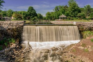 Nineteenth century residents of Menomonee Falls harnessed the Menomonee River to power their early business enterprises.