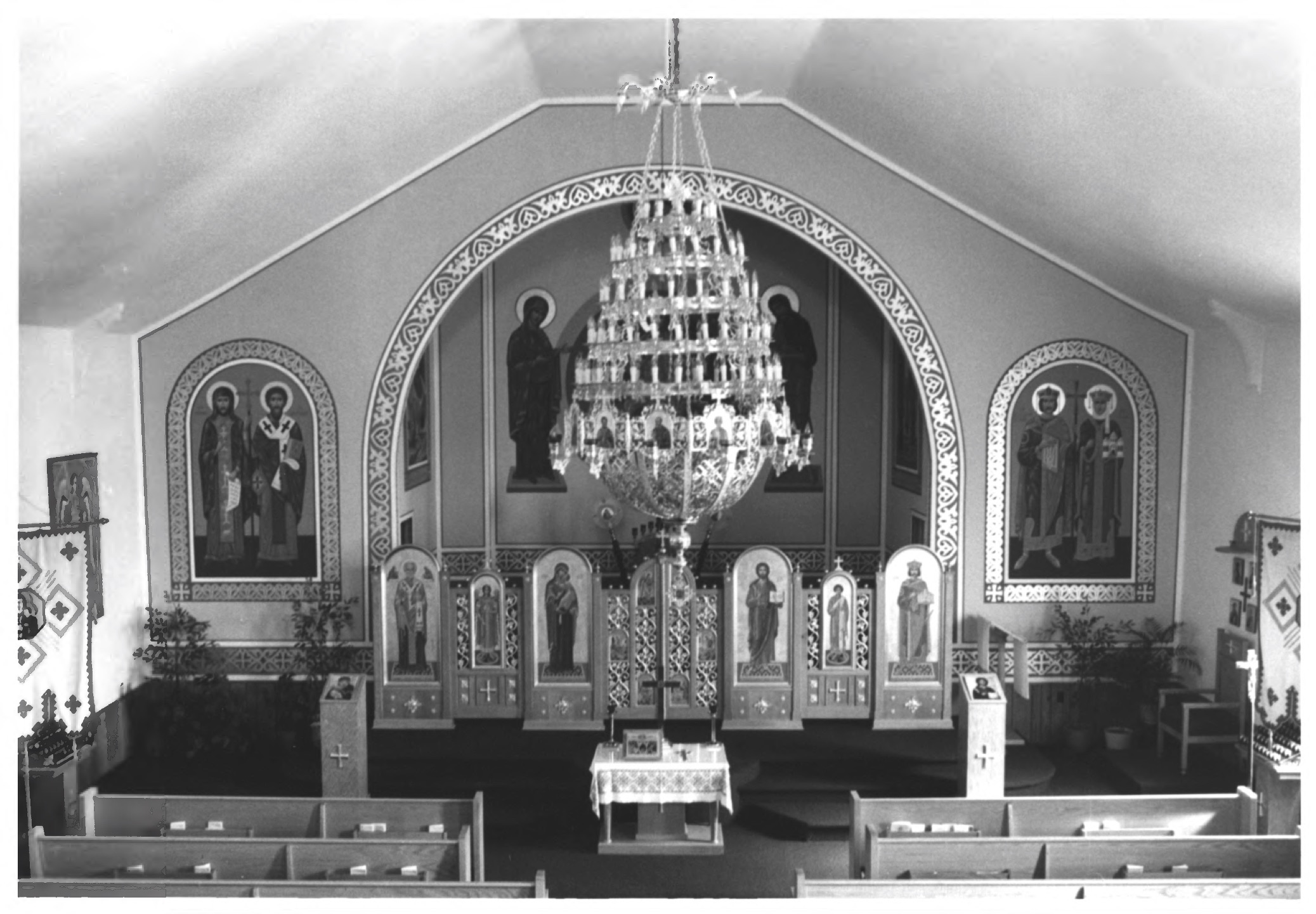 1987 photograph of the interior of St. Michael's Ukrainian Catholic Church, located at 1025 S. 11th Street.