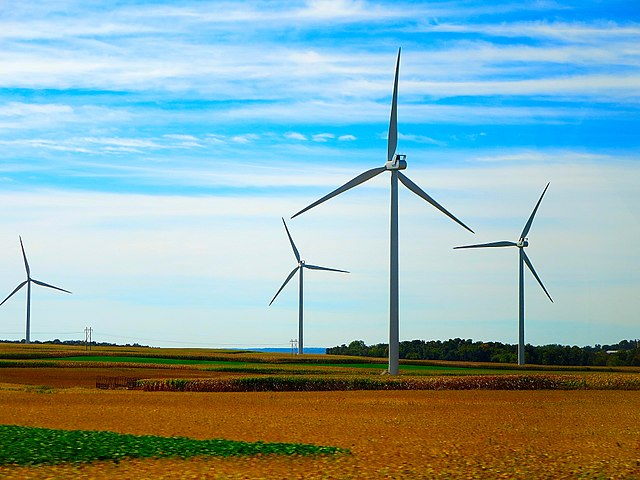 <table class=&quot;lightbox&quot;><tr><td colspan=2 class=&quot;lightbox-title&quot;>Glacier Hills Wind Park</td></tr><tr><td colspan=2 class=&quot;lightbox-caption&quot;>The Glacier Hills Wind Park in Columbia County, Wisconsin, has been generating power for We Energies since 2011.</td></tr><tr><td colspan=2 class=&quot;lightbox-spacer&quot;></td></tr><tr class=&quot;lightbox-detail&quot;><td class=&quot;cell-title&quot;>Source: </td><td class=&quot;cell-value&quot;>From the Wikimedia Commons. Photograph by Corey Coyle. <br /><a href=&quot;https://commons.wikimedia.org/wiki/File:Glacier_Hills_Wind_Park_-_panoramio_(7).jpg&quot; target=&quot;_blank&quot;>Wikimedia Commons</a></td></tr><tr class=&quot;filler-row&quot;><td colspan=2>&nbsp;</td></tr></table>