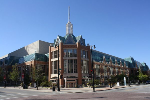 A 2012 image of the downtown convention facility that began its life as the Midwest Express Center and is now the Wisconsin Center.