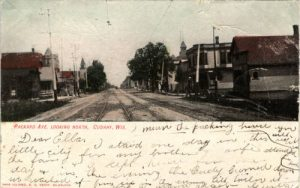 An early 20th century postcard of Packard Avenue, one of Cudahy's major streets.